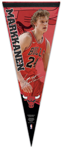 "Lauri Markkanen ""Signature Series"" Chicago Bulls Premium NBA Felt Collector's PENNANT - Wincraft 2019"