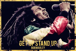 "Bob Marley ""Get Up Stand Up"" Reggae Music Superstar Poster - GB Eye"