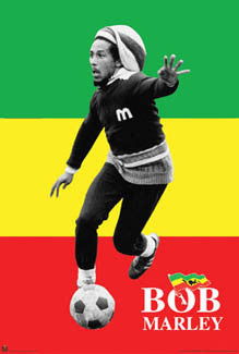 "Bob Marley ""Team Rasta"" Soccer Poster - Import Images Inc."