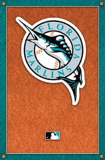 Florida Marlins Official Logo Poster - Costacos Sports