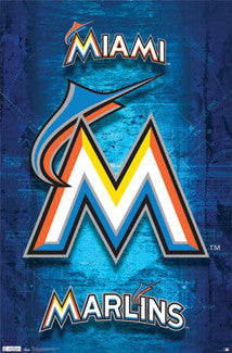 Miami Marlins MLB Baseball Official Logo Poster - Costacos Sports