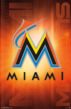 Miami Marlins Official MLB Baseball Team Logo Poster - Trends International