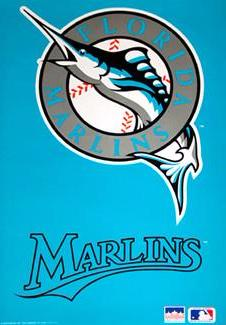 Florida Marlins Original 1993 Team Logo Poster - Starline Inc.