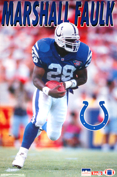 "Marshall Faulk ""Rookie Action"" (1994) Indianapolis Colts Poster - Starline Inc."