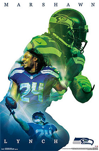 "Marshawn Lynch ""Superstar"" Seattle Seahawks Poster - Trends 2015"