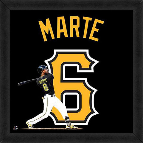 "Starling Marte ""Number 6"" Pittsburgh Pirates FRAMED 20x20 UNIFRAME PRINT - Photofile"