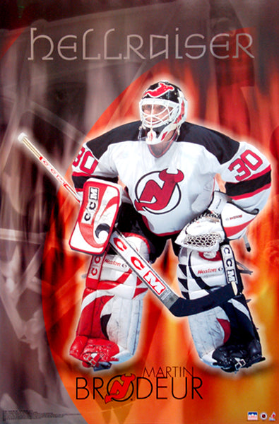 "Martin Brodeur ""Hellraiser"" New Jersey Devils NHL Hockey Goalie Poster - Starline 2001"