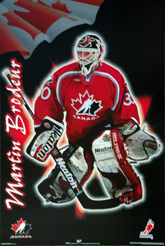 Martin Brodeur Team Canada 1998 Hockey Action Poster - Trends International