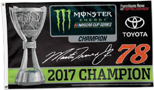 Martin Truex Jr. 2017 NASCAR Cup Champion Official Deluxe-Edition 3'x5' Flag - Wincraft