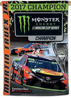 Martin Truex Jr. 2017 NASCAR Champion Commemorative 28x40 Vertical Banner - Wincraft Inc.