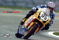 "Steve Martin ""MotoGP Action"" Ducati Motorcycle Racing Poster - Suomy"