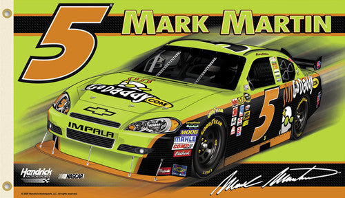 "Mark Martin ""GoDaddy #5"" 3'x5' Flag - BSI 2010"