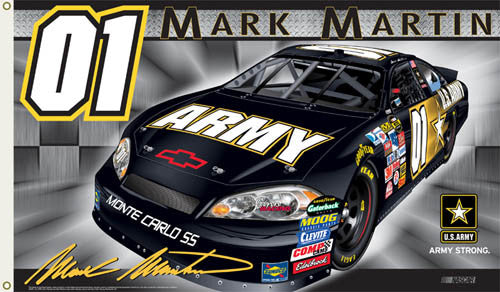 "Mark Martin ""Army Strong"" 3'x5' Flag - BSI Products"