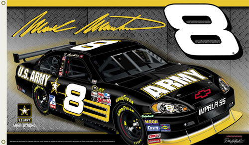 "Mark Martin ""Army 8"" 3'x5' Flag - BSI 2008"