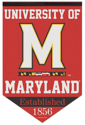 "University of Maryland Terrapins ""Est. 1856"" Official NCAA Premium Felt Wall Banner - Wincraft"