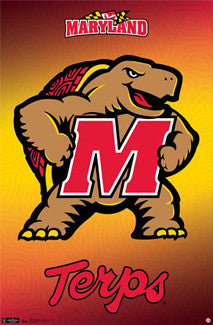 Maryland Terrapins Official NCAA Team Logo Poster - Costacos Sports Inc.