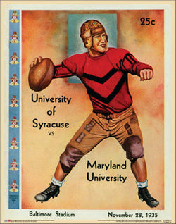 Maryland Football 1935 Vintage Program Cover Poster Print - Asgard Press