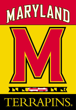 University of Maryland Terrapins Official 28x40 NCAA Premium Team Banner - BSI Products