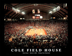 Maryland Basketball Cole Field House Final Game Poster (2002) - Aerial Views Inc.