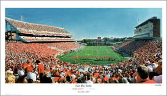 Maryland Football 'Fear the Turtle' Byrd Stadium Gameday Panorama - Sofa Galleria