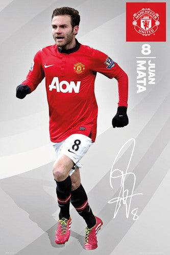"Juan Mata ""Signature"" Manchester United FC Soccer Action Poster - GB Eye (UK)"