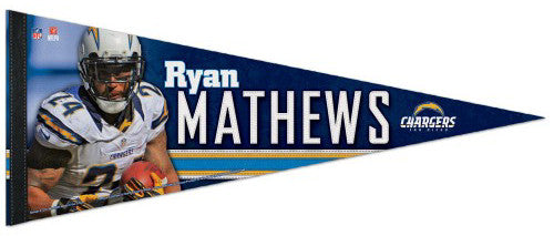 "Ryan Mathews ""Superstar"" Premium NFL Felt Collector's Pennant (2012) - Wincraft"