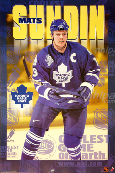 "Mats Sundin ""Superstar"" Toronto Maple Leafs NHL Hockey Action Poster - T.I.L. 1999"