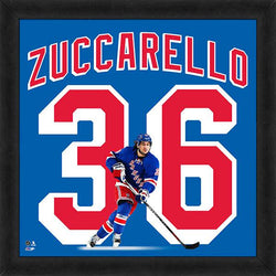 "Mats Zuccarello ""Number 36"" New York Rangers NHL FRAMED 20x20 UNIFRAME PRINT - Photofile"