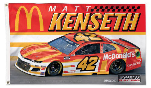 Matt Kenseth NASCAR McDonald's #42 Huge 3' x 5' Deluxe FLAG - Wincraft 2020