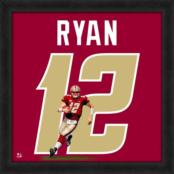 "Matt Ryan ""Number 12"" Boston College Eagles NCAA FRAMED 20x20 UNIFRAME PRINT - Photofile"