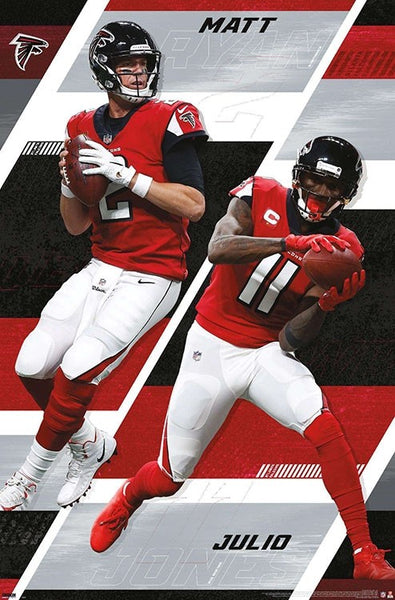 "Matt Ryan and Julio Jones ""Super Duo"" Atlanta Falcons Official NFL Football Action Poster - Trends International 2020"