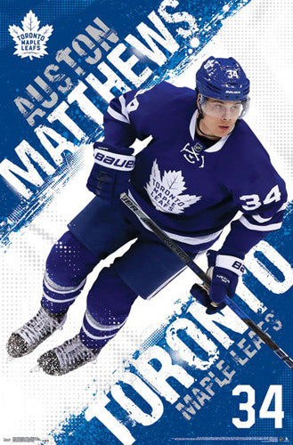 "Auston Matthews ""Superstar"" Toronto Maple Leafs Official NHL Wall POSTER - Trends 2016"