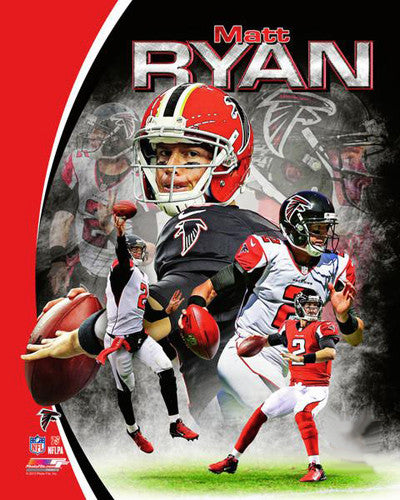 "Matt Ryan ""Superstar"" Atlanta Falcons NFL Football Premium Poster Print - Photofile 16x20"