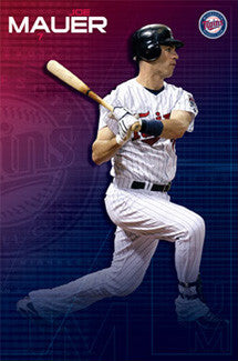 "Joe Mauer ""Superstar"" Minnesota Twins Action Poster - Costacos Sports"