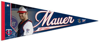 "Joe Mauer ""Action"" Premium Felt Collector's Pennant (LE /2010) - Wincraft"