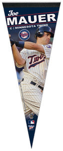 "Joe Mauer ""Twins Action"" Premium Felt Collector's Pennant (LE /1000)"