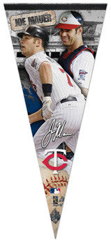 "Joe Mauer ""Big-Time"" EXTRA-LARGE Premium Felt Pennant - Wincraft"