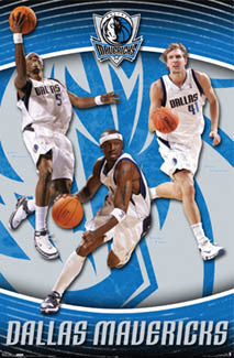 "Dallas Mavericks ""Triple Action"" Poster (Nowitzki, Terry, Howard) - Costacos 2007"
