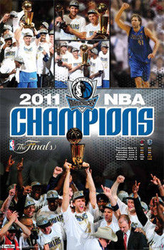 "Dallas Mavericks ""Celebration"" 2011 NBA Champions Commemorative Poster - Costacos"