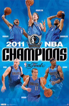 Dallas Mavericks 2011 NBA Champions Official Commemorative Poster - Costacos Sports