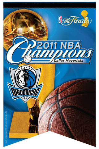Dallas Mavericks 2011 NBA Champions Premium Felt Banner - Wincraft Inc.