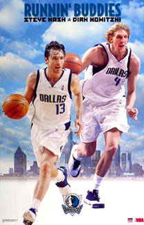"Steve Nash and Dirk Nowitzki ""Runnin' Buddies"" Dallas Mavericks Poster - Starline 2002"