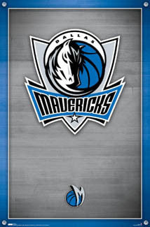 Dallas Mavericks Official NBA Basketball Team Logo Poster - Costacos Sports