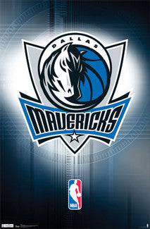 Dallas Mavericks NBA Team Logo Poster - Costacos Sports