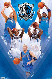 "Dallas Mavericks ""V"" Superstar Action Poster - Costacos 2012"