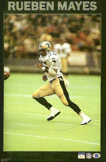 "Rueben Mayes ""Action"" New Orleans Saints Poster - Starline 1987"