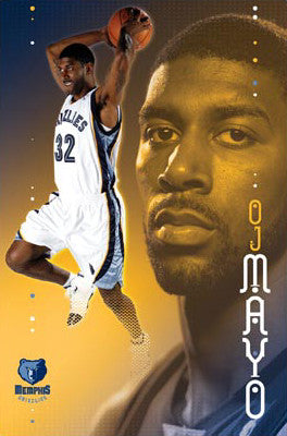 "OJ Mayo ""Debut"" Memphis Grizzlies NBA Action Poster - Costacos 2008"