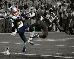 "Malcolm Butler ""The Interception"" (Super Bowl XLIX) Patriots Spotlight Edition Premium Poster Print"