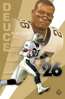 "Deuce McAllister ""Superstar"" New Orleans Saints Poster - Costacos 2003"