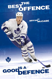"Bryan McCabe ""Good Defence"" Toronto Maple Leafs Poster - Costacos 2006"